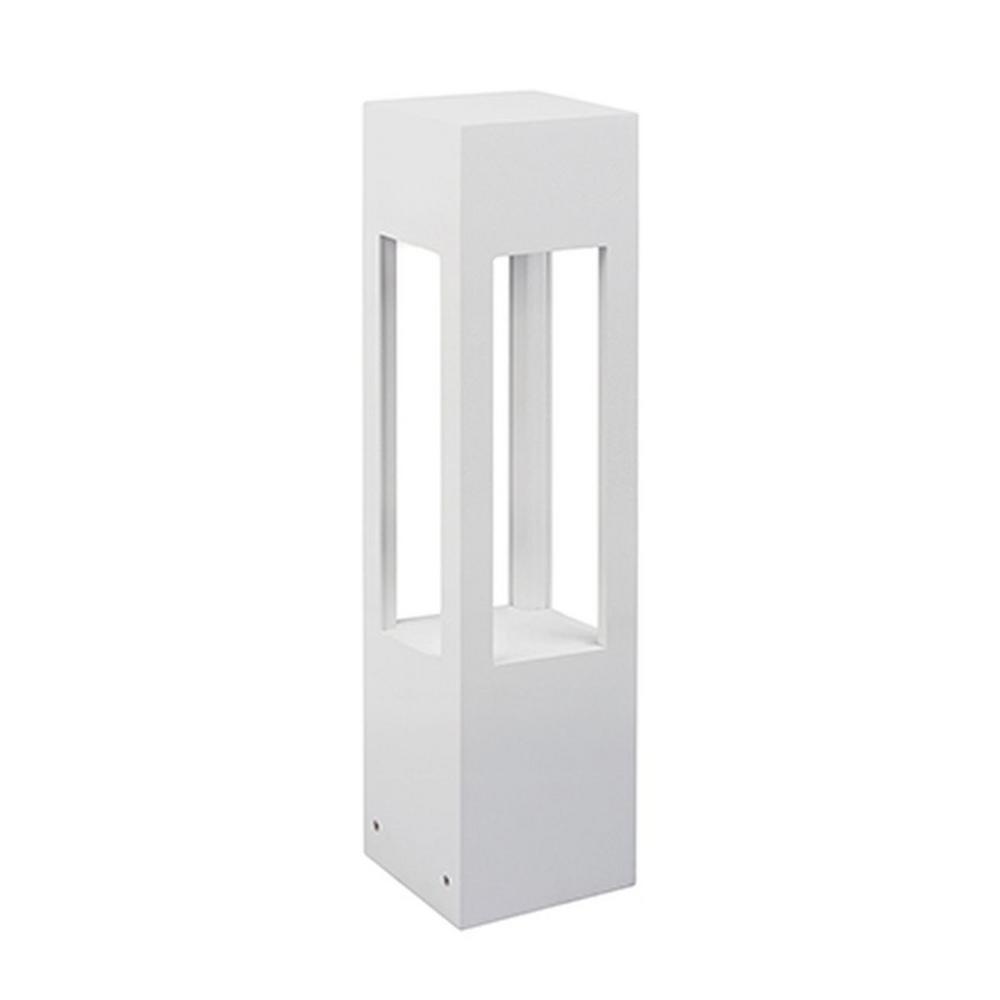 Fermington 1-Light White 60-Watt Equivalence Integrated LED Outdoor Post Light