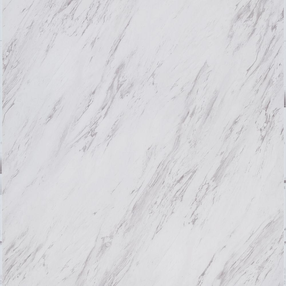 TrafficMASTER Carrara Marble 12 In X 24 Peel And Stick Vinyl Tile