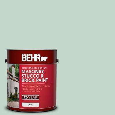 1 gal. #MS-64 Mesa Verde Flat Interior/Exterior Masonry, Stucco and Brick Paint