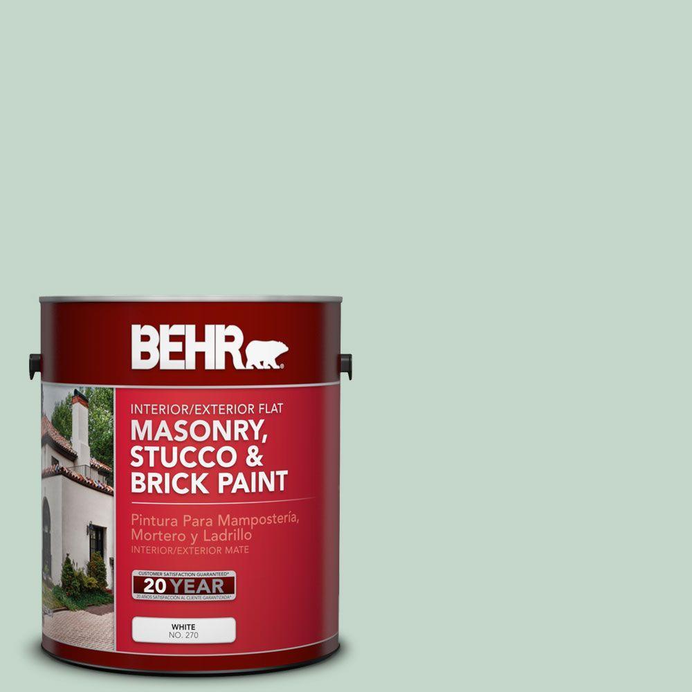 1 gal. #MS-64 Mesa Verde Satin Interior/Exterior Masonry, Stucco and Brick Paint