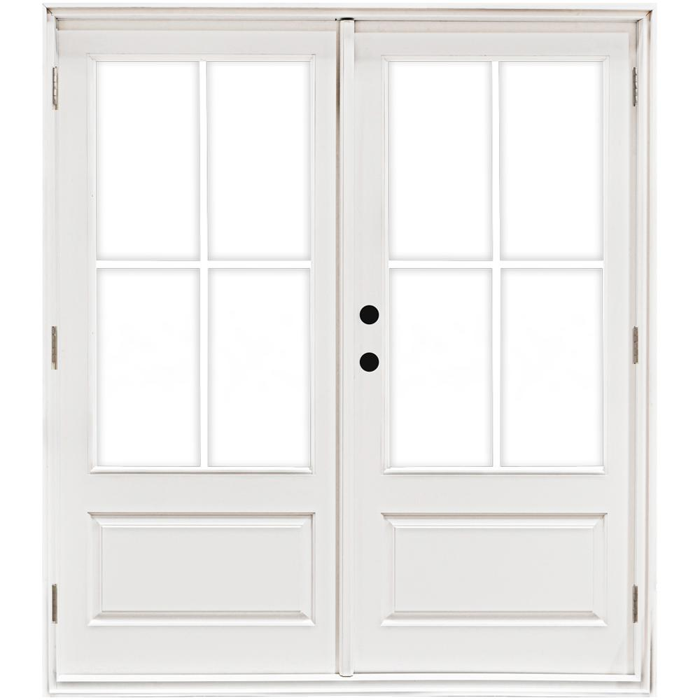 Mp Doors 60 In X 80 In Fiberglass Smooth White Right