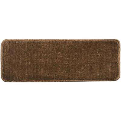 Softy Brown 9 in. x 26 in. Non-Slip Stair Tread (Set of 13)