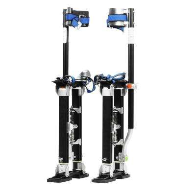 18 in. to 30 in. Black Mag Pros Magnesium Drywall Stilts