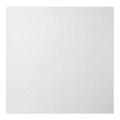23.75in. X 23.75in. Stucco Pro Vinyl Lay In White Ceiling Tile (Case of 12)