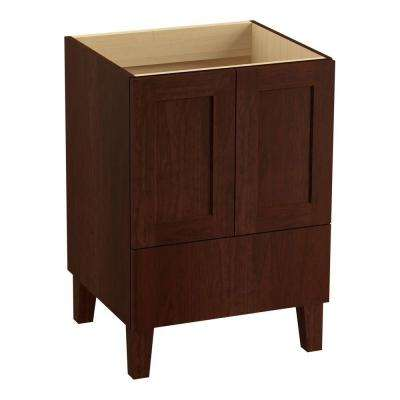 Poplin 24 in. Vanity Cabinet Only in Cherry Tweed