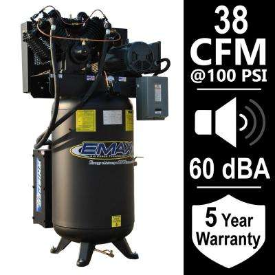 Industrial Series 80 Gal. 10 HP 1-Phase Silent Air Electric Air Compressor