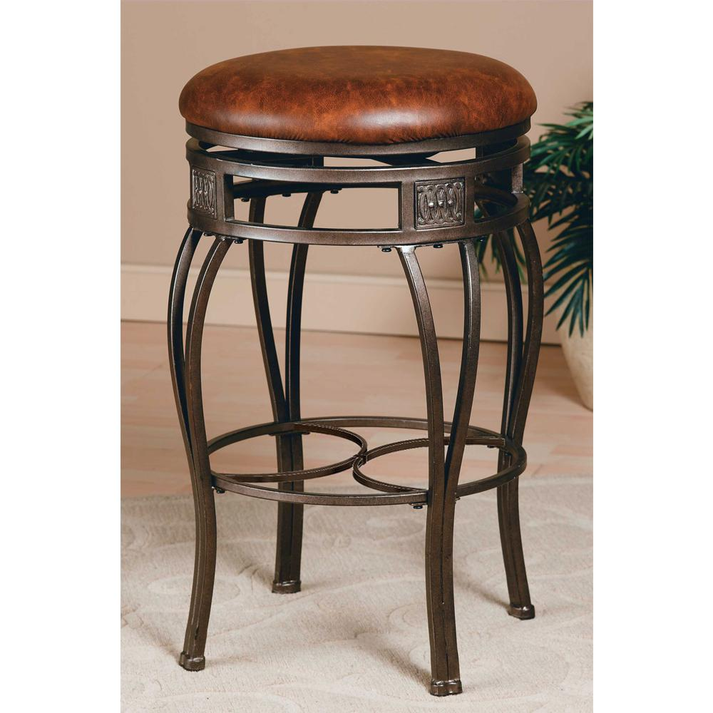 Montello 26 in. Dynamic Old Steel Cushioned Bar Stool