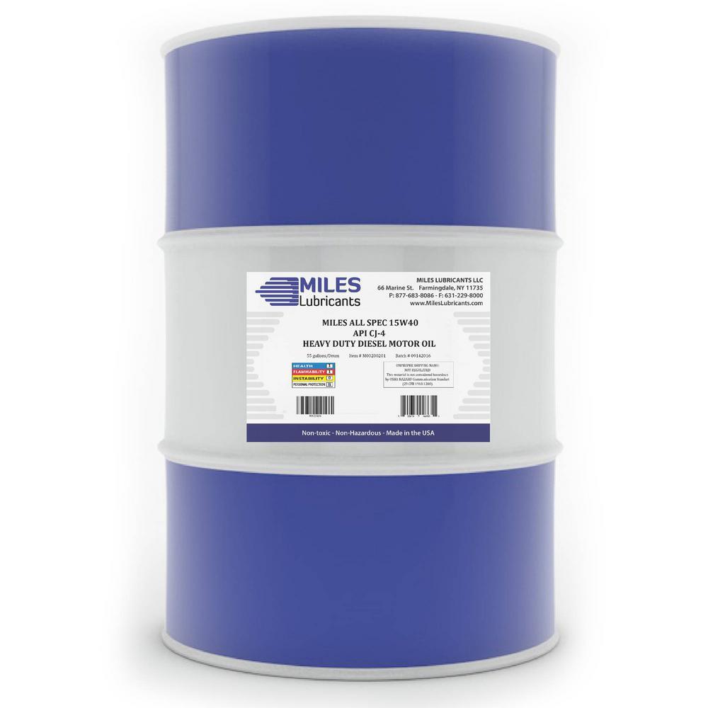 All Spec 15W-40 API CK-4, 55 Gal. Heavy Duty Diesel Motor Oil Drum