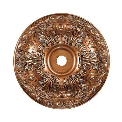 Titan Lighting 36 in. Antique Bronze Ceiling Medallion