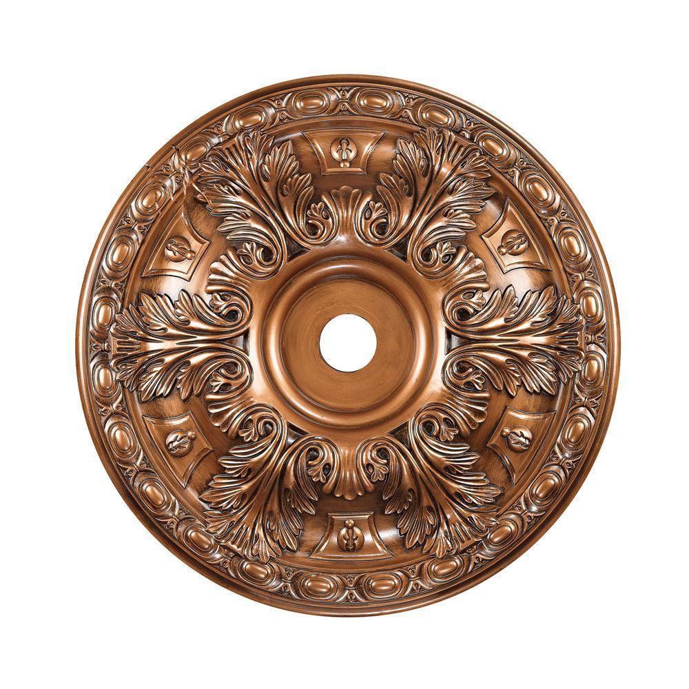 Titan Lighting 36 in. Antique Bronze Ceiling Medallion