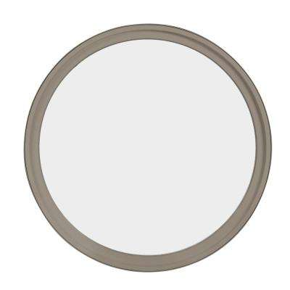 30 in. x 30 in. Round Sandstone 4-9/16 in. Jamb Geometric Aluminum Clad Wood Window