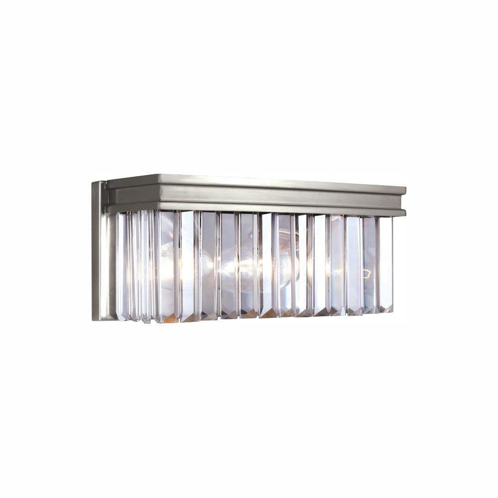 Carondelet 2-Light Antique Brushed Nickel Bath Light with LED Bulbs