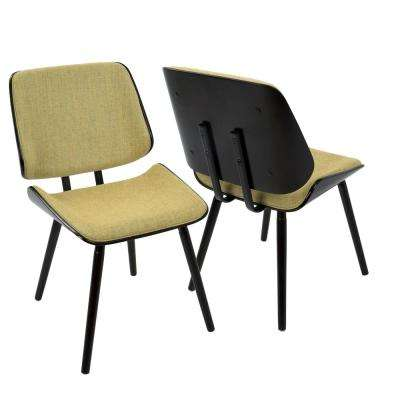 Lombardi Espresso and Yellow Dining/Accent Chair (Set of 2)