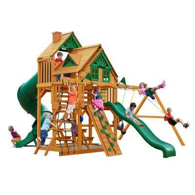 Great Skye I Treehouse Swing Set with Amber Posts Cedar Playset