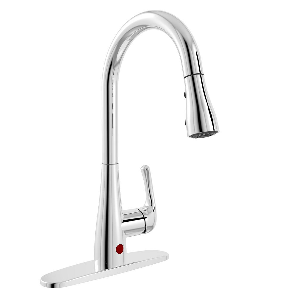 Belanger Single Handle Pull Down Sprayer Kitchen Faucet With Motion Sensor In Chrome
