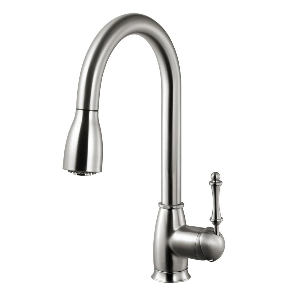 Camden Single-Handle Pull Down Sprayer Kitchen Faucet with CeraDox Technology in