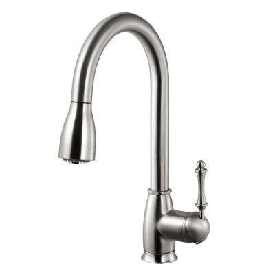 Camden Single-Handle Pull Down Sprayer Kitchen Faucet with CeraDox Technology in Brushed Nickel