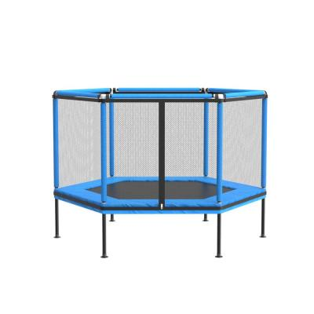 5 ft. Round Backyard Trampoline w/ Safety Enclosure Outdoor Indoor - TCHT-KF020033-02