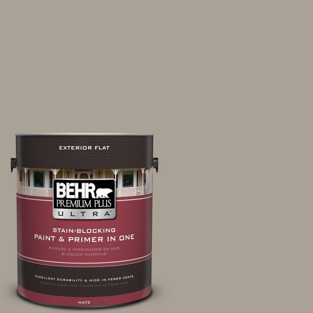 BEHR Premium Plus Ultra 1-gal. #ECC-18-1 Quail Ridge Flat Exterior Paint