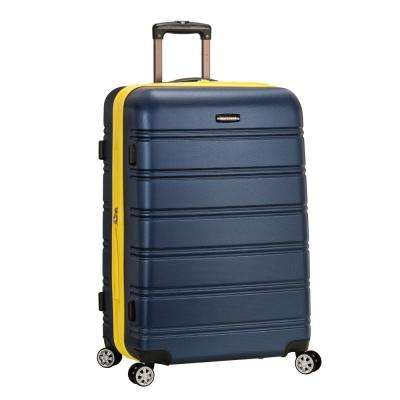 Melbourne 28 in. Navy Expandable Hardside Dual Wheel Spinner Luggage