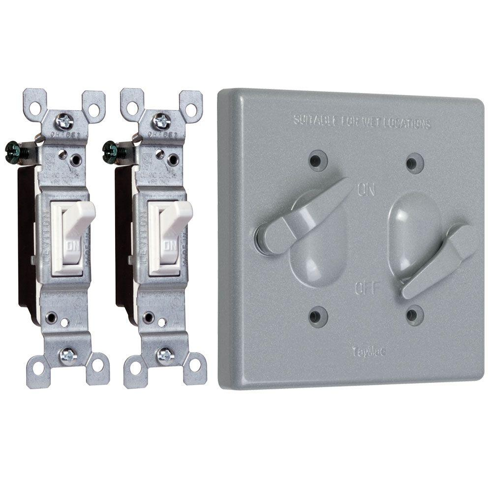 WATERPROOF OUTLET COVER-WHITE Quantity 2