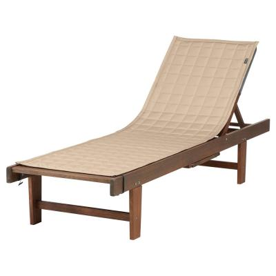 Montlake FadeSafe 72 in. L x 21 in. W Antique Beige Patio Chaise Lounge Slipcover