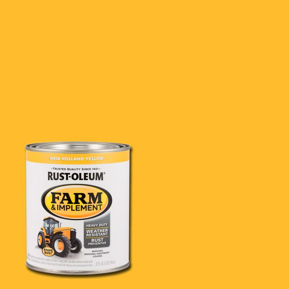 1 qt. Farm & Implement New Holland Yellow Enamel Paint (2-Pack)