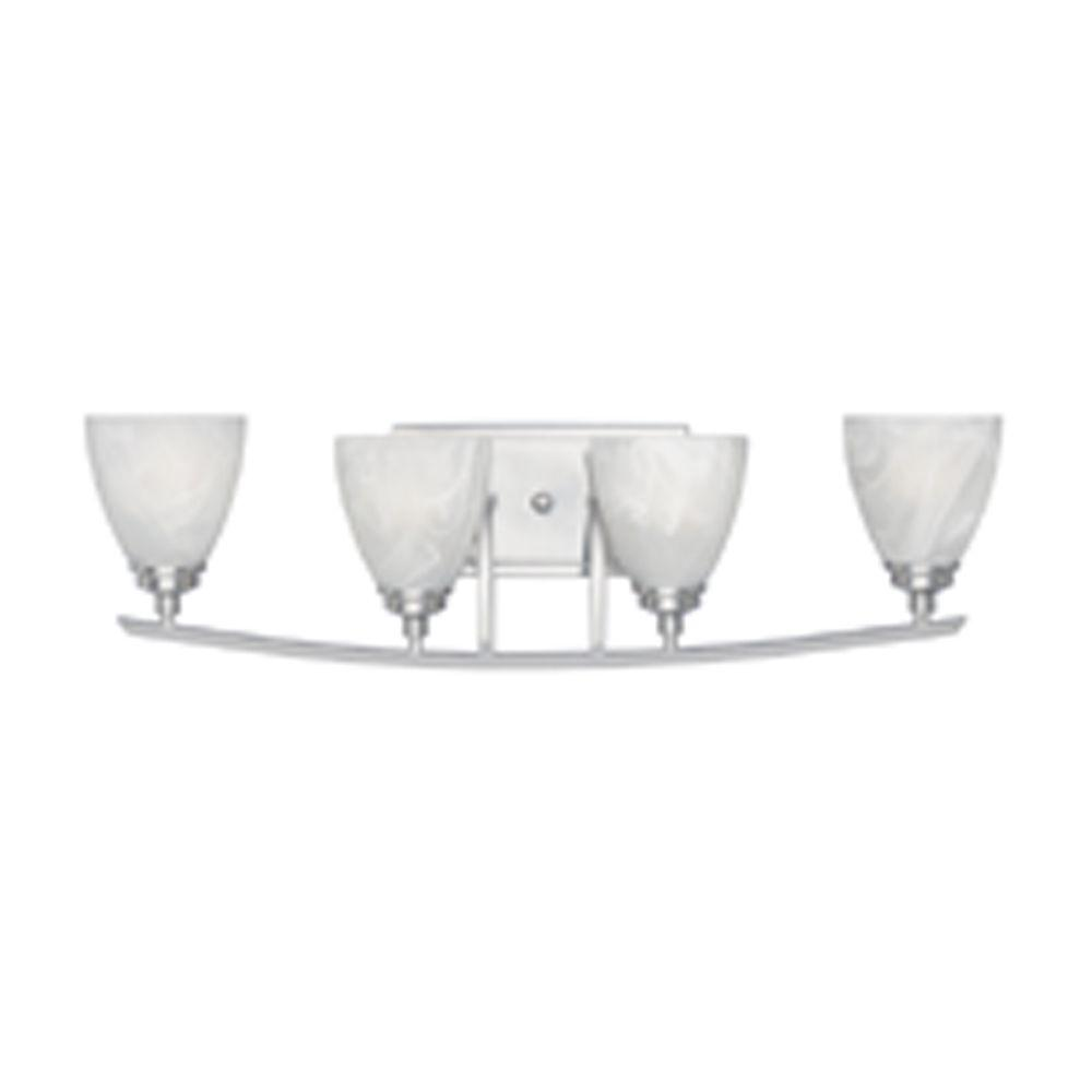 Manhattan 4-Light Satin Platinum Wall Light