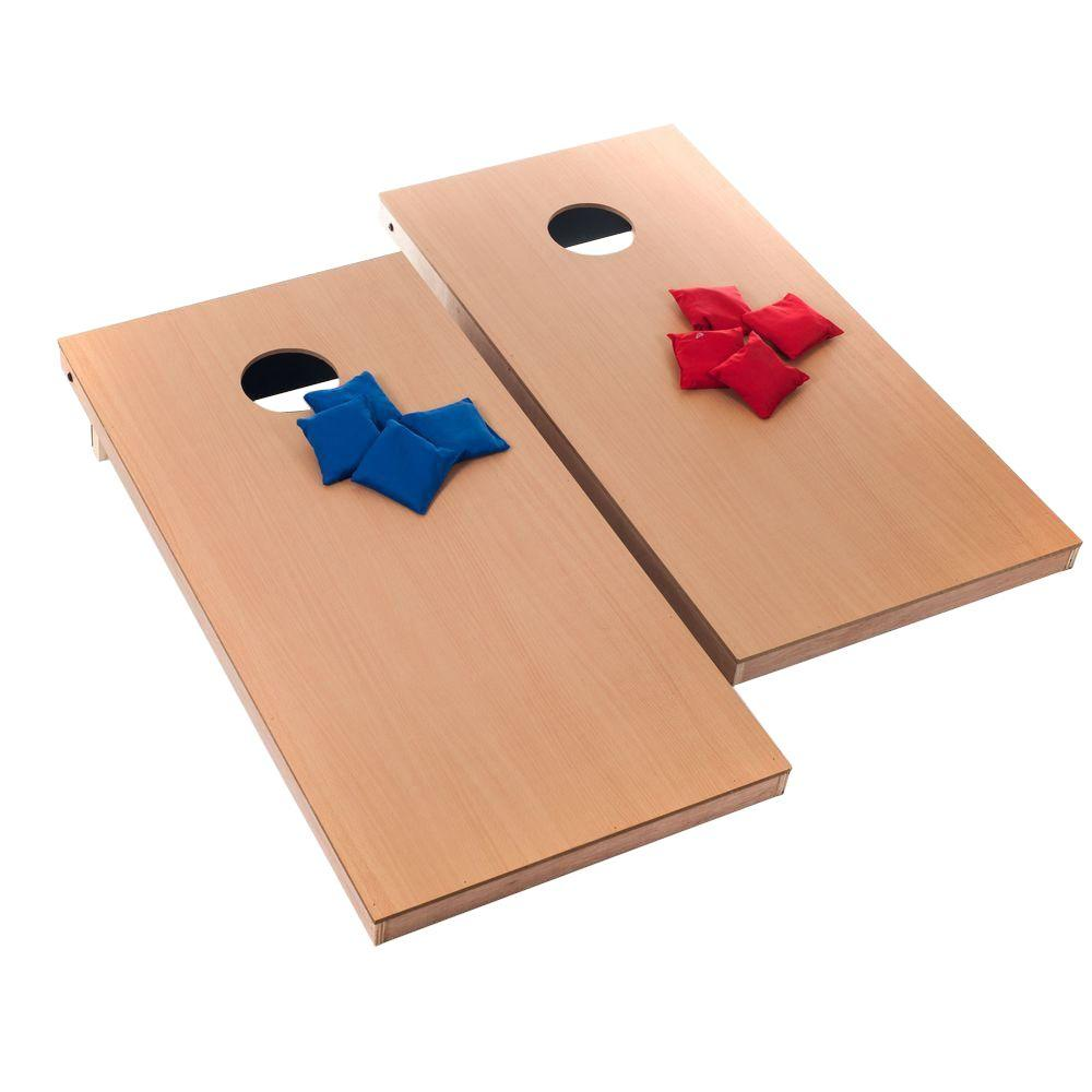 Trademark Games Official Size Wood Cornhole Toss Game Set