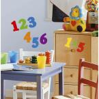 5 in. x 11.5 in. Numbers Primary Peel and Stick Wall Decal