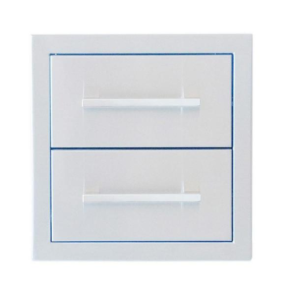 Signature Series 12 in. H Beveled Frame Double Drawer