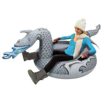 45 in. Ice Dragon Winter Snow Tube Snow Sled