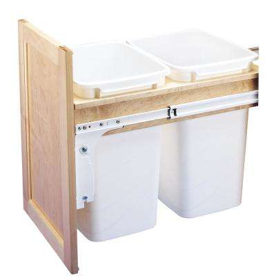 Dbl 35 Qt. Top Mount Waste Container