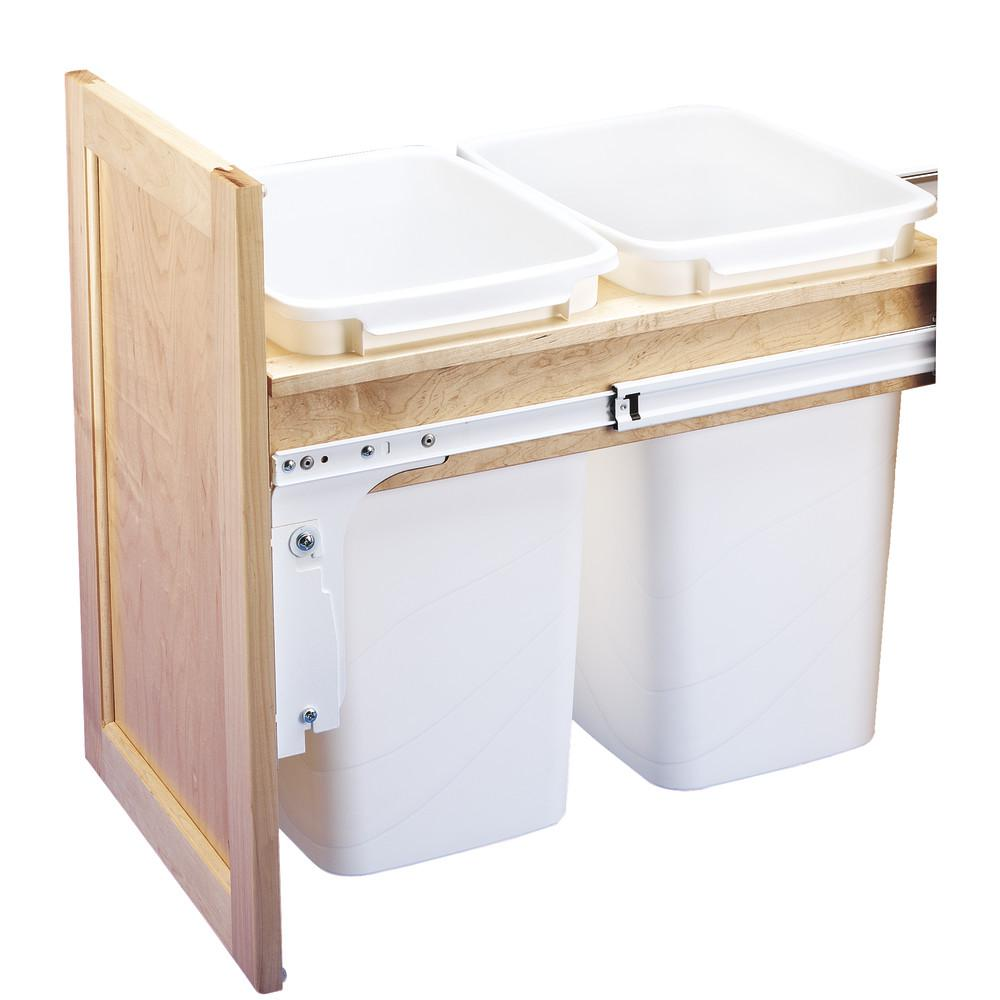 Dbl 50 Qt. Top Mount Waste Container