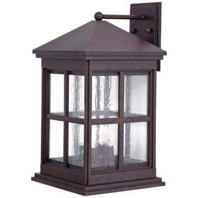 Berkeley 4-Light Rust Outdoor Wall Mount Lantern