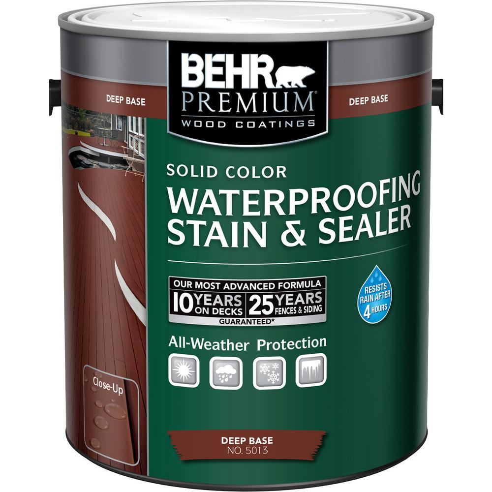 1 gal. Deep Base Solid Color Waterproofing Stain & Sealer