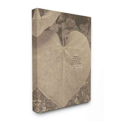 """30 in. x 40 in. """"Van Gogh Love Quote Typography Sepia Plant Photography"""" by Tammy Apple Canvas Wall Art"""