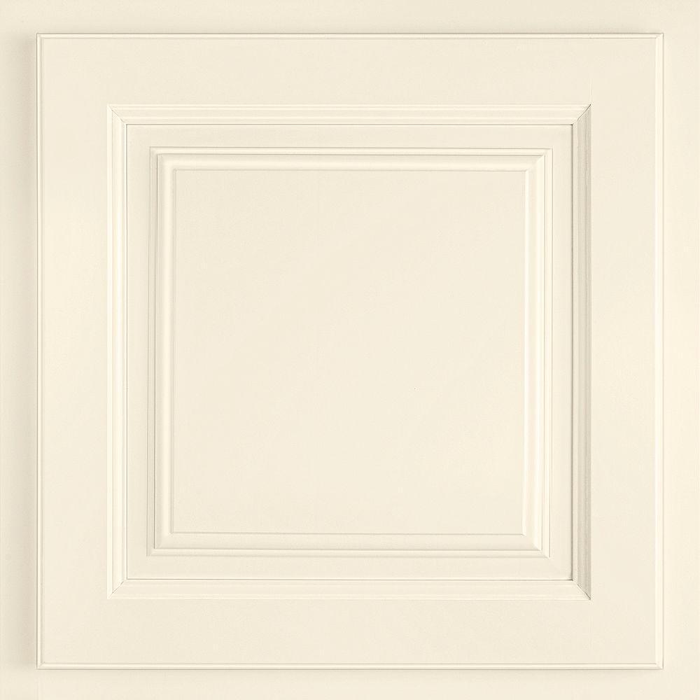 American Woodmark 13x12-7/8 in. Cabinet Door Sample in Newport Maple Cream Glaze-DISCONTINUED