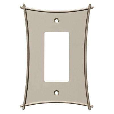 Bellaire Decorative Single Rocker Switch Plate, Satin Nickel
