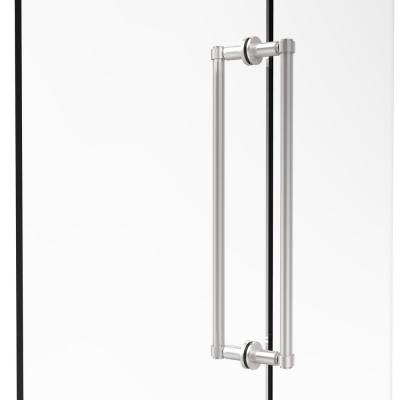 Contemporary 18 in. Back-to-Back Shower Door Pull in Satin Chrome