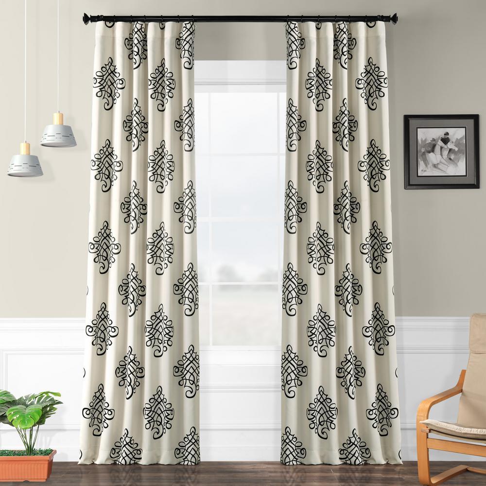 Semi-Opaque Tugra Blackout Curtain - 50 in. W x 96 in. L (Panel)