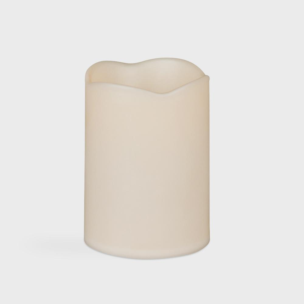 Hampton Bay 6 in. x 12 in. Battery Operated Resin LED Outdoor Candle