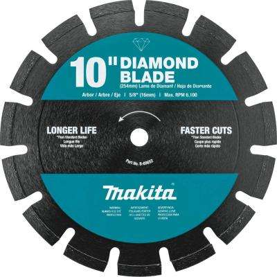 10 in. Segmented Rim Dual Purpose Diamond Blade