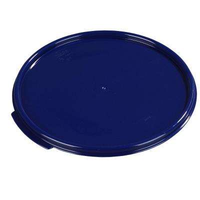 Lid for 12, 18 and 22 qt. Polypropylene Round Storage Container Fits all Three in Blue (Case of 6)