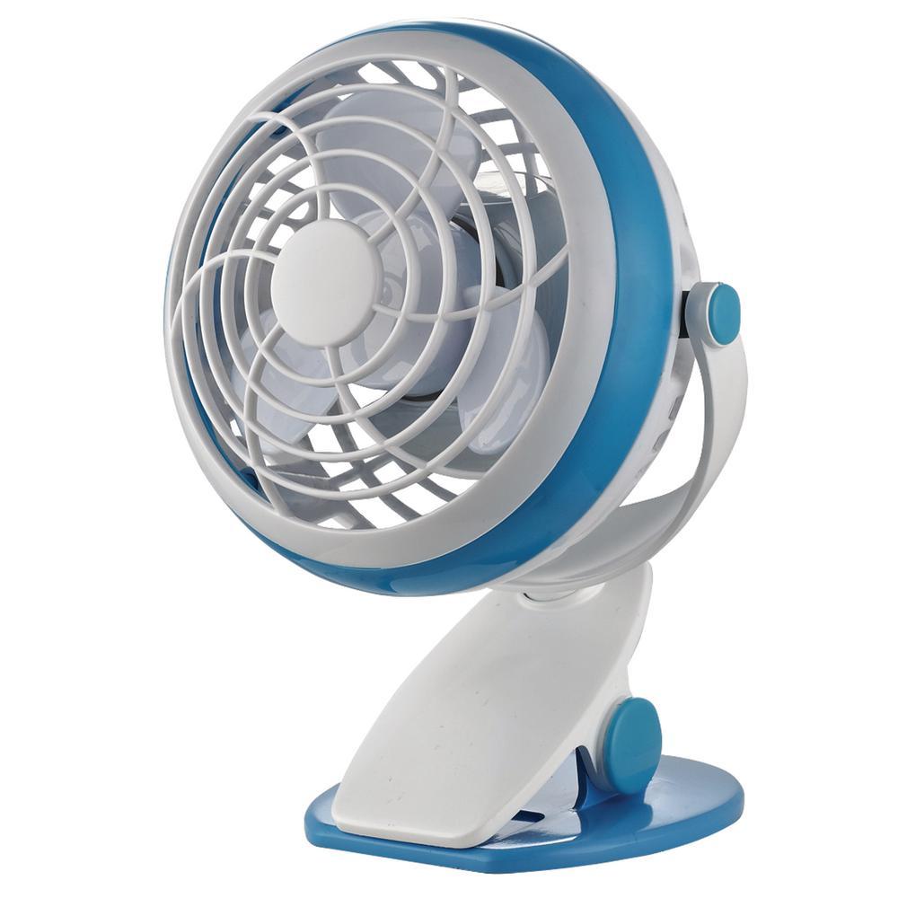 4 in. Personal Clip Fan in Blue