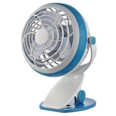 4 in. Personal Clip Fan in Blue