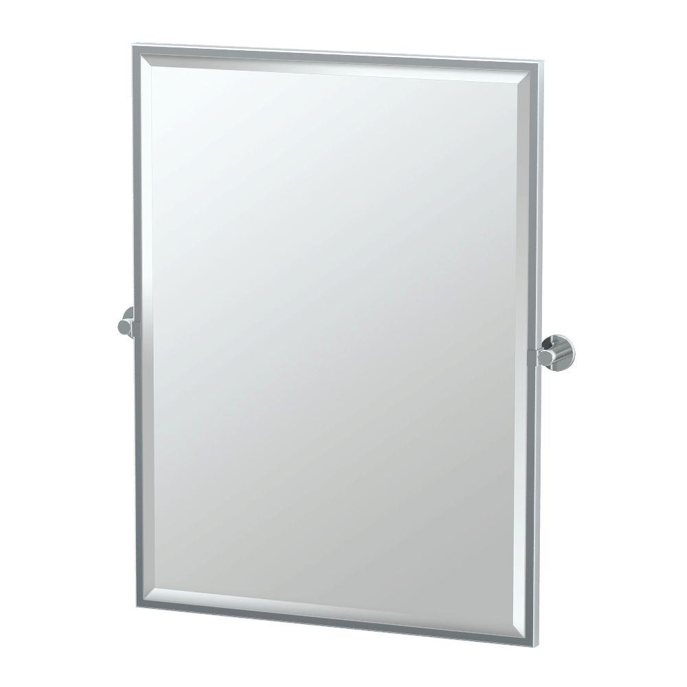 Channel 28 in. x 33 in. Framed Single Large Rectangle Mirror