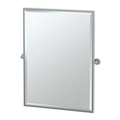 Channel 28 in. x 33 in. Framed Single Large Rectangle Mirror in Chrome