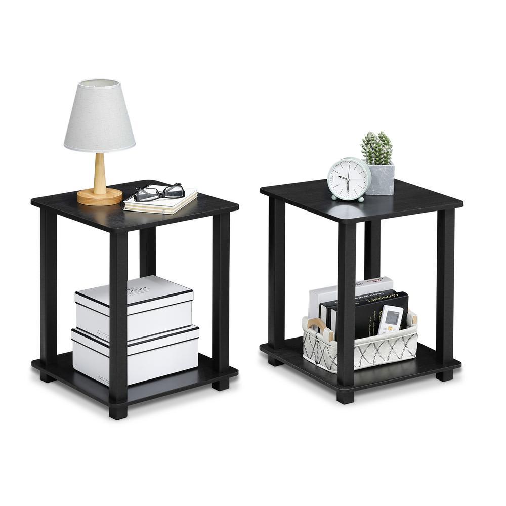 Simplistic Americano/Black End Table (2-Pack)
