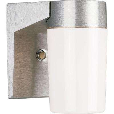 Hard-Nox Collection 1-Light Outdoor Satin Aluminum Wall Lantern